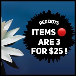 🔴 All red dots items are 3 for $25 !